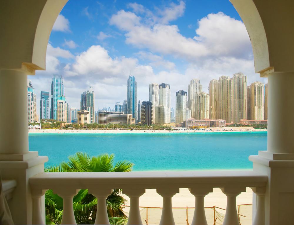 Dubai city, view from villa