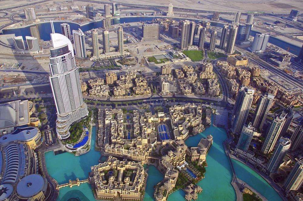 Dubai skyline, view from above