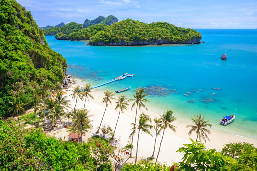 Пляж на острове Самуи. Тайланд